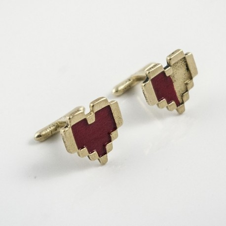 Legend of Zelda: Pixel Hearts Cufflinks