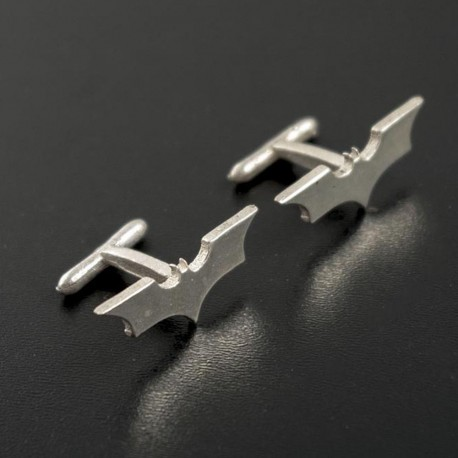 Batman Dark Knight: Silver Cufflinks