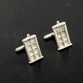 Doctor Who: TARDIS silver cufflinks