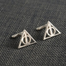 Harry Potter: Cufflinks of the Dealthy Hallows of silver