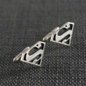 Superman silver cufflinks