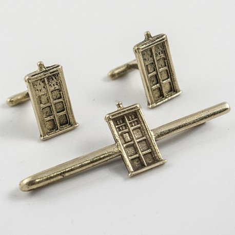 Doctor Who: TARDIS Tie Clip and Cufflinks