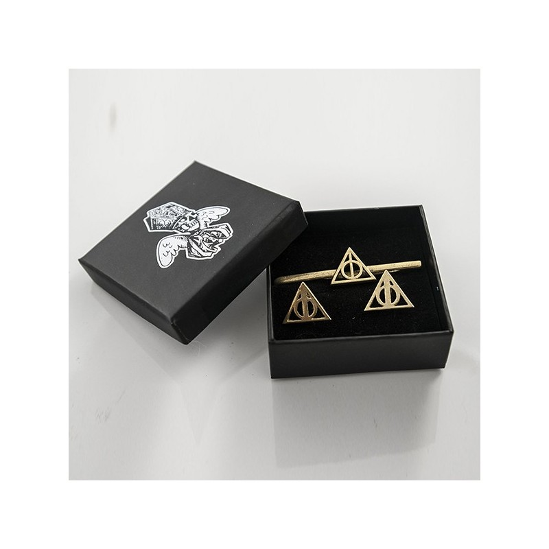 ba4d67ae37fc ... Harry Potter: Tie Clip and Cufflinks of the Dealthy Hallows