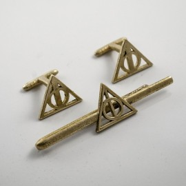Harry Potter: Tie Clip and Cufflinks of the Dealthy Hallows