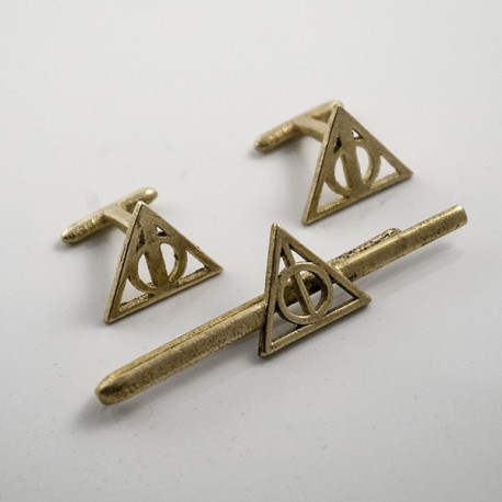 1687d3421ccd Harry Potter: Tie Clip and Cufflinks of the Dealthy Hallows