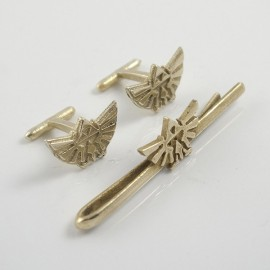 Legend of Zelda: Triforce Tie Clip and Cufflinks