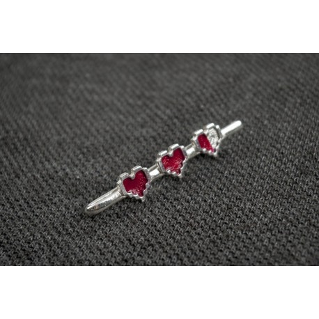 Legend of Zelda: Pixel Hearts Tie Clip