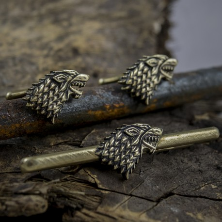 62aaf49af7e9 Game of Thrones: House Stark Tie Clip and Cufflinks