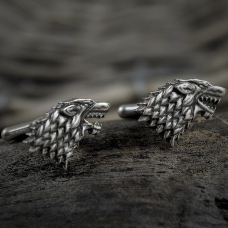 Game Of Thrones: House Stark Silver Cufflinks